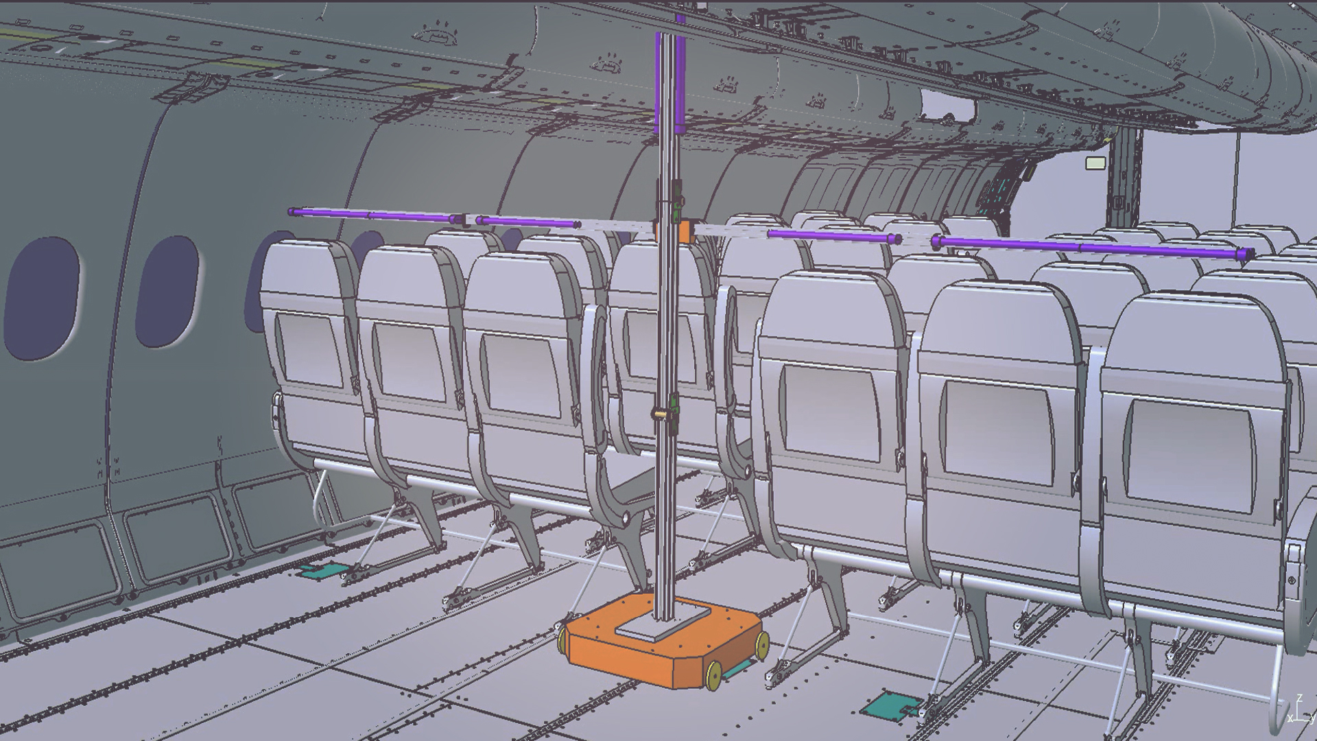 CT desarrolla FlightSafe, un sistema automatizado de desinfección