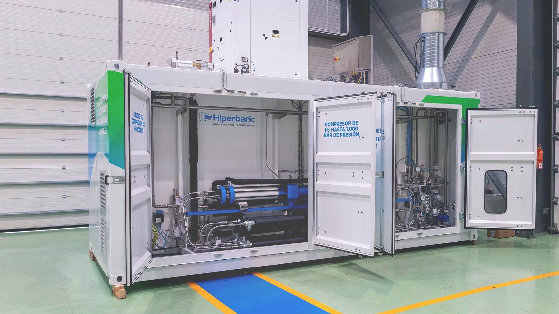 HIPERBARIC entrega el primer compresor español de hidrógeno alta presión para movilidad sostenible
