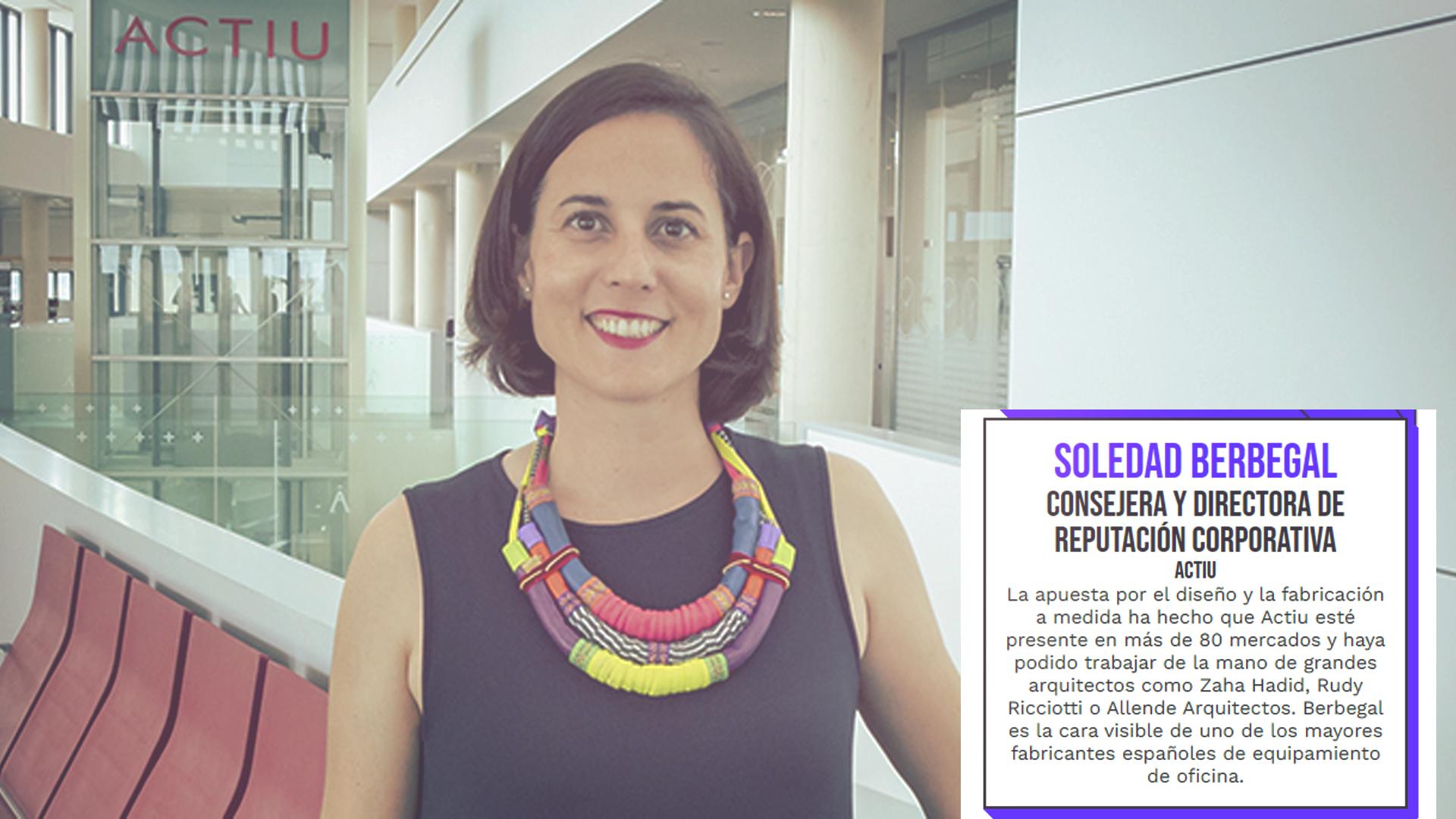 """Soledat Berbegal de Actiu, incluida en la lista Forbes """"Los 100 españoles más creativos en el mundo de los negocios"""""""